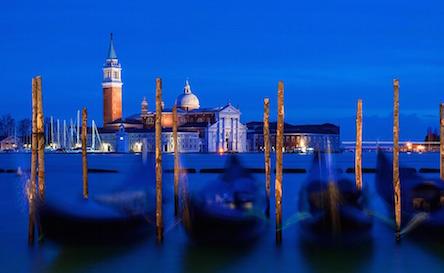 Венеция, волшебный синий час передзакатом