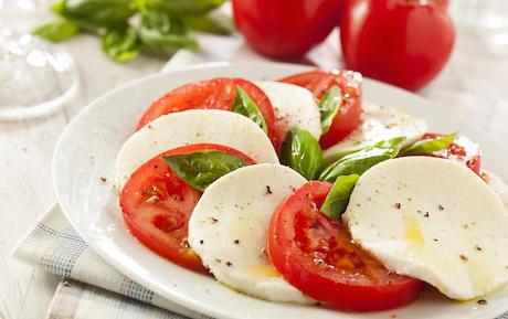 Homemade Organic Caprese Salad