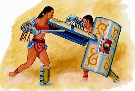 Гладиаторы-женщины, реальность ДревнегоРима